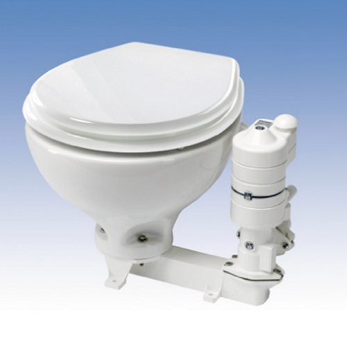 RM Toilet Electric Standard Porcelain Bowl With Wooden Seat 24v