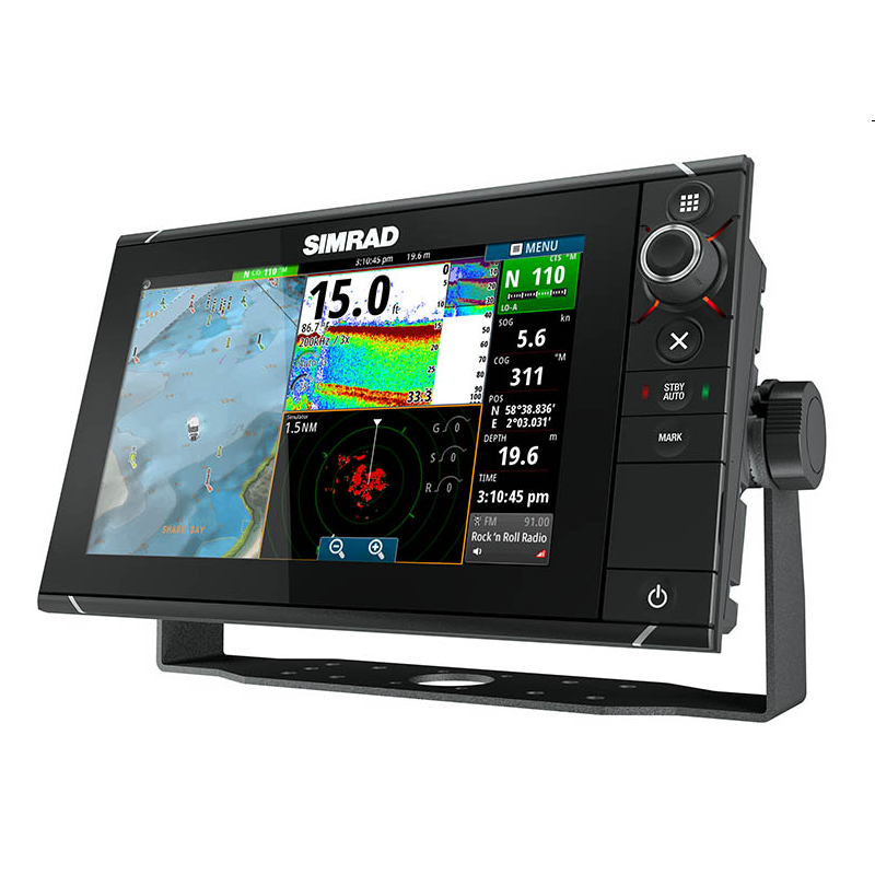 Simrad NSS9 evo2 Combo Display Built-in CHIRP Sounder and StructureScan & Insight Cartography