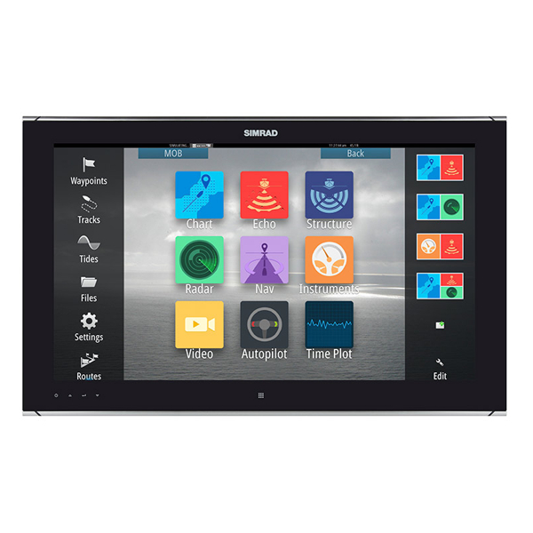 Simrad MO24-T 19 Inch Widescreen High bright, multi-touch monitor. High Definition