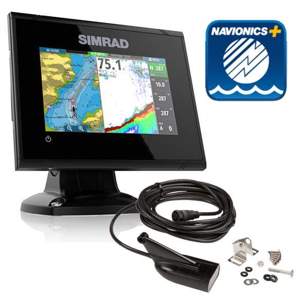 Simrad GO5 5 Inch Plotter/ Sounder With Navionics + Card & Med / Hi / Down Scan Transducer