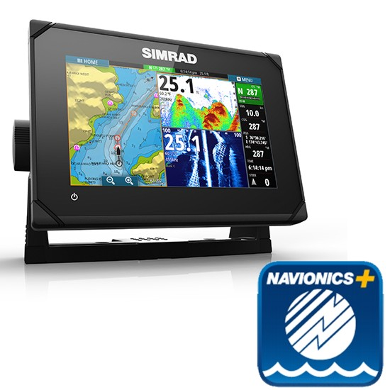 Simrad GO7 XSE 7 Inch Multi-touch Chart Plotter with built in Echosounder - No Transducer - Includes Navionics Plus Card