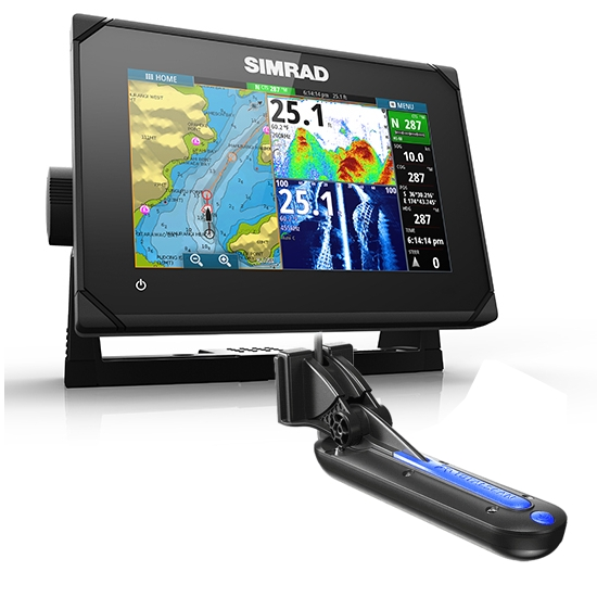 Simrad GO7 XSE TotalScan 7Inch Multi-touch Chart Plotter With Echosounder With TotalScan TR