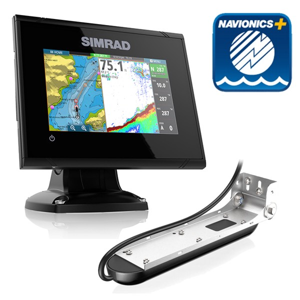 Simrad GO5 5 Inch Plotter / Sounder With Navionics + Card & Total Scan Transducer