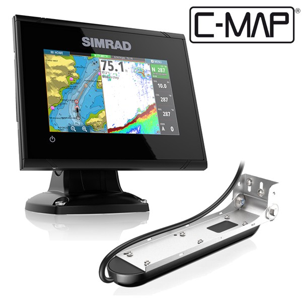 Simrad GO5 5 Inch Plotter / Sounder With C-MAP Europe North MAX N Card & Total Scan Transducer