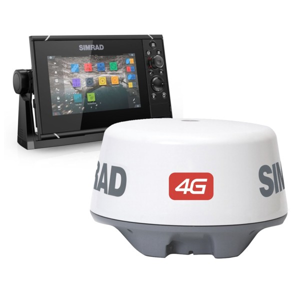 Simrad NSS7 evo3 7 Inch Display & Broadband 4G Radar With World Basemap