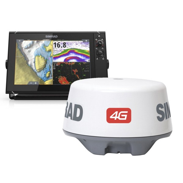 Simrad NSS12 evo3 12 Inch Display & Broadband 4G Radar With World Basemap