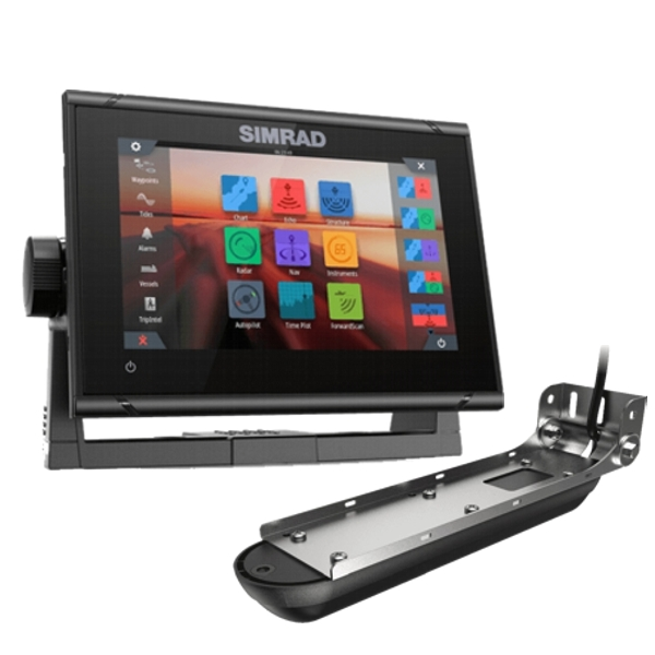 Simrad GO7 XSR Display With Transom Active Imaging 3 in 1Transducer