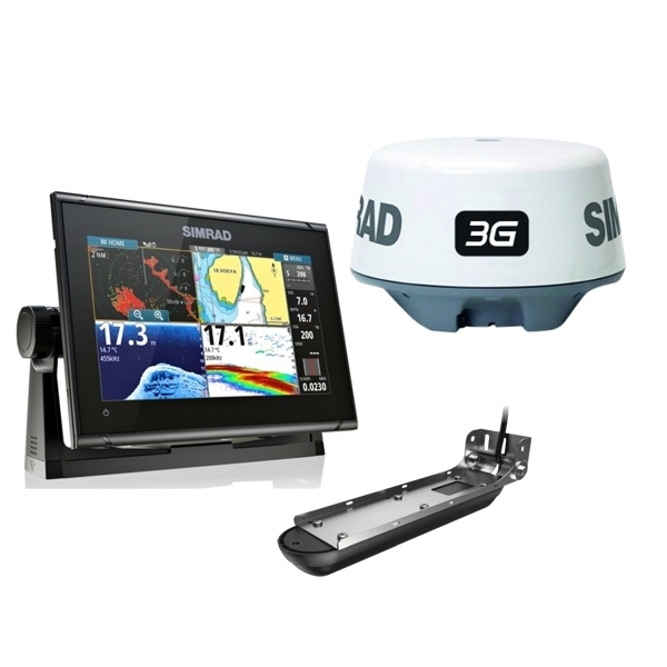 Simrad GO9 XSE Display With Active Imaging 3 in 1 Transducer and 3G Radar