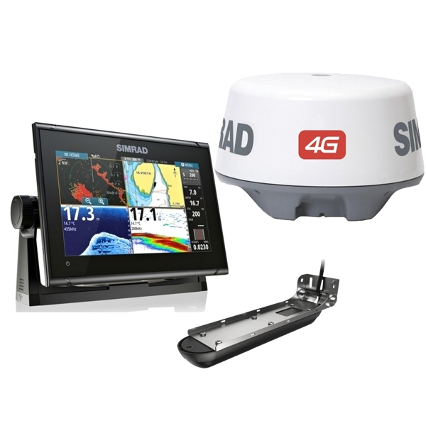 Simrad GO9 XSE Display With Active Imaging 3 in 1 Transducer and 4G Radar