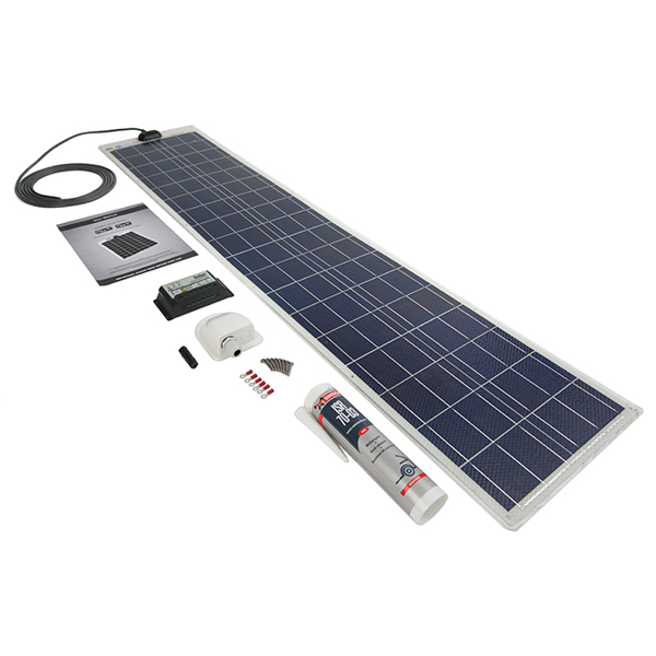 Flexible Solar Panel 60W 12v - Roof / Deck Kit