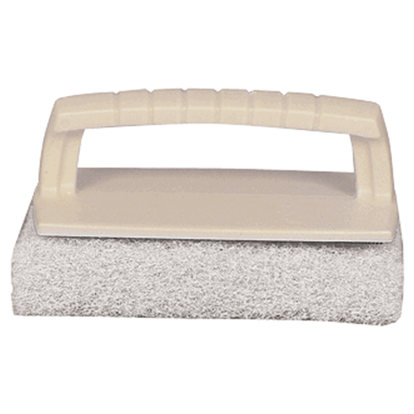 Starbrite Scrub Pad with Handle Fine White