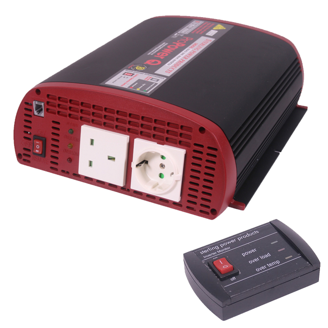 Sterling Pro Power Quasi Inverter 12v 1800W With Remote