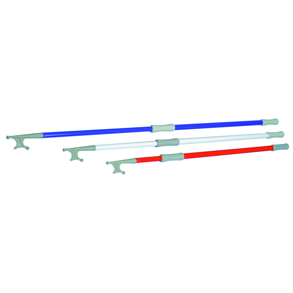 Trem Telescopic Boat Hook Blue Aluminium Extends 120-200cm