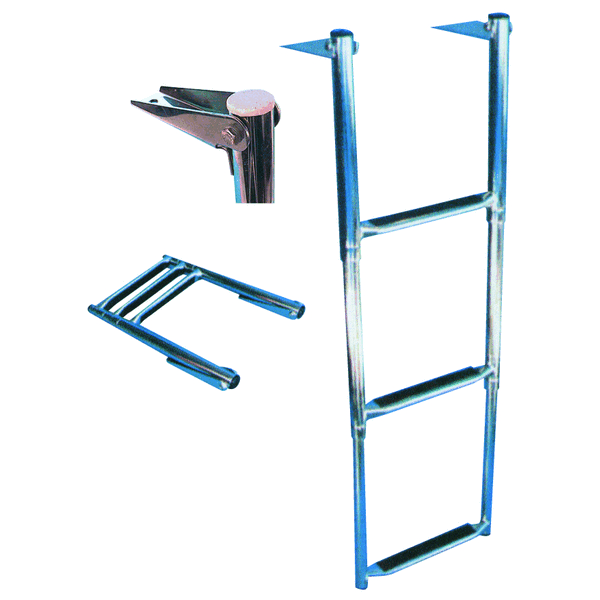 Trem Telescopic Ladder 3 Steps Flat Stowage