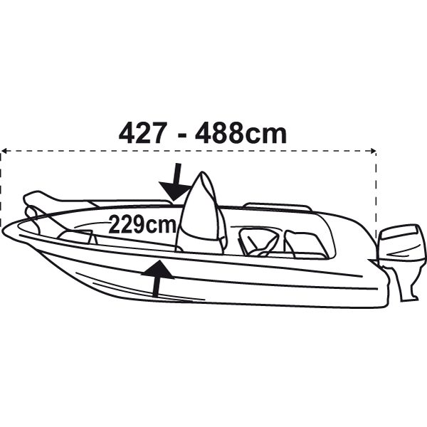Trem Boat Cover XS Silver Grey For Boat L427-488cm W229cm