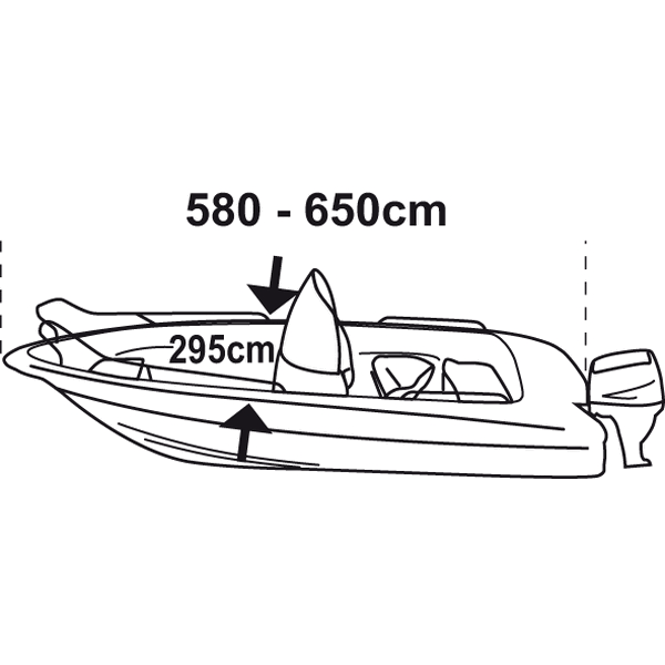 Trem Boat Cover XL Silver Grey For Boat L580-650cm W295cm