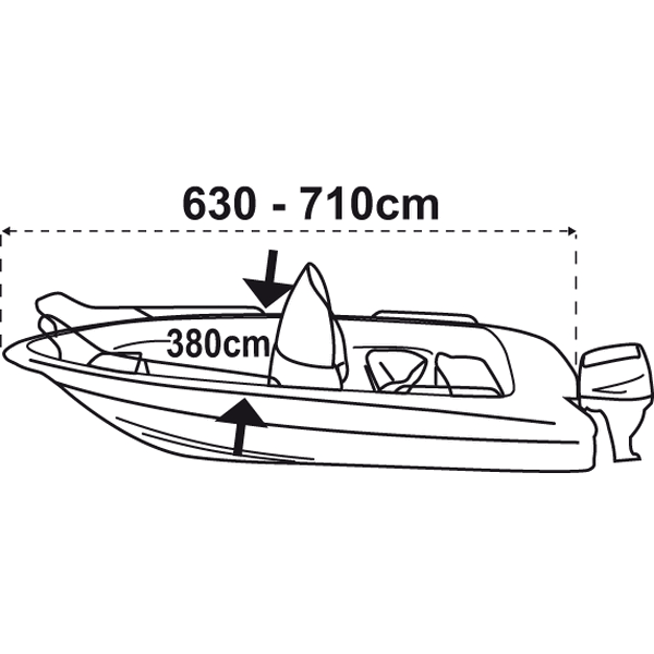 Trem Boat Cover XXL Navy Blue For Boat L630-710cm W380cm