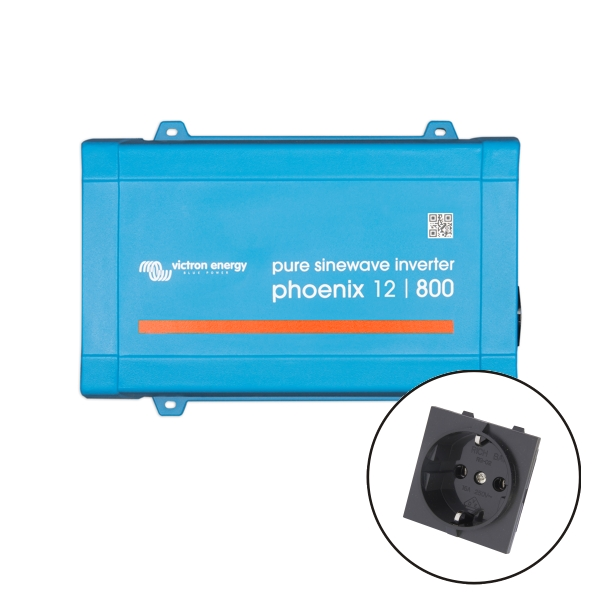 Victron Phoenix Sine Wave Inverter 12V 800VA VE.Direct - Euro Socket