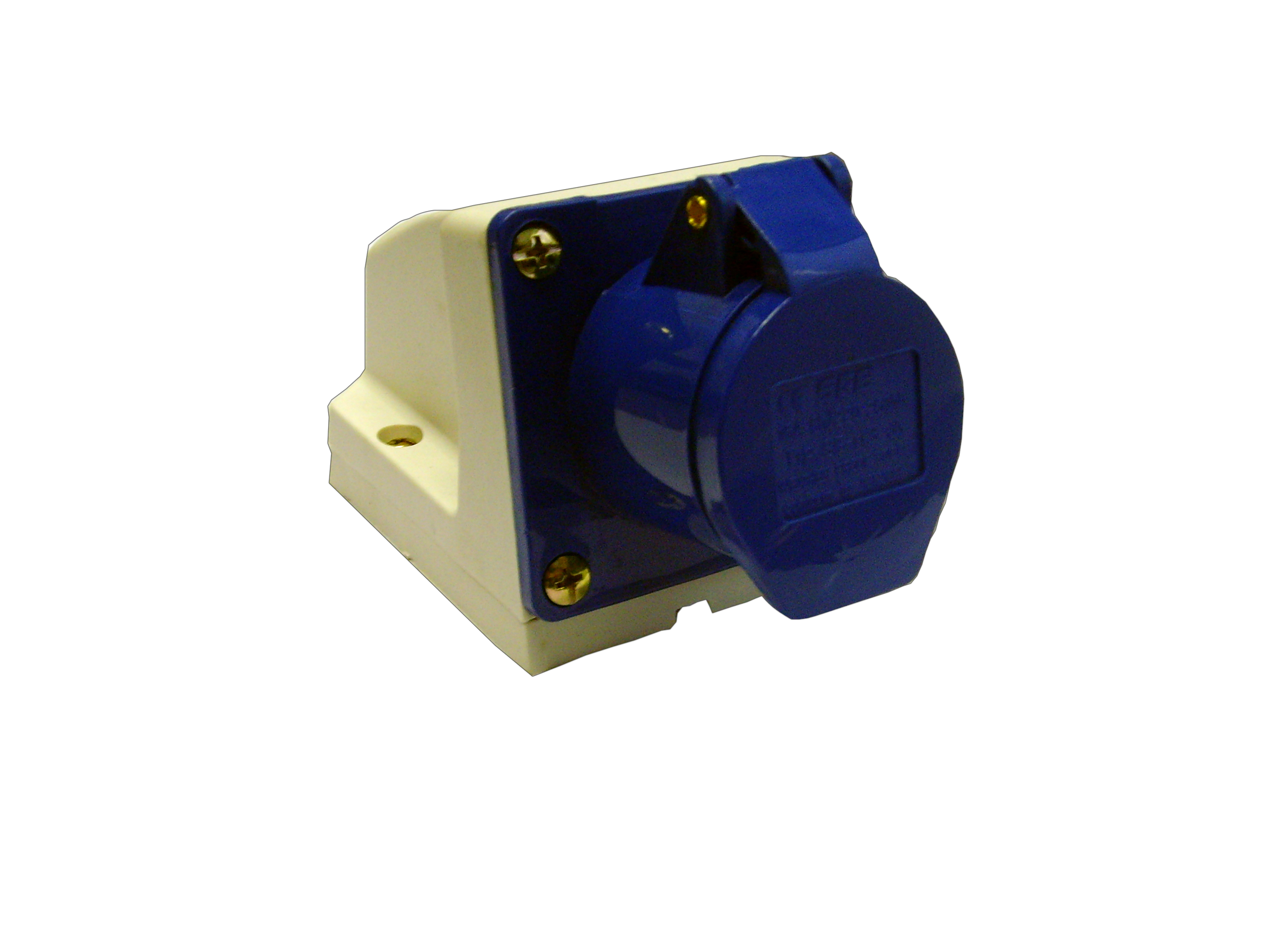 Waveline Industrial Socket 16A 220-250VAC 2P+EIP44 Blue