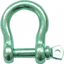 Waveline Bow Shackle - Hot Dip Galvanised 8mm