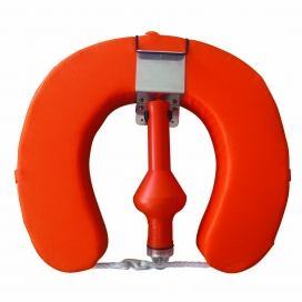 Waveline Complete Horseshoe Set Buoy Bkt & Light Orange