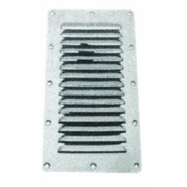 Waveline SS louvered vent 230x115mm AISI 316