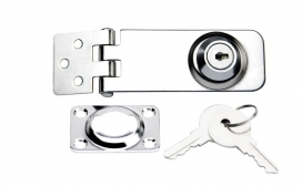 Waveline Lockable latch with Key SS316
