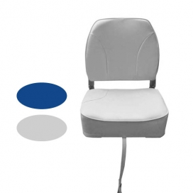 Waveline White Deluxe Low Back Folding Seat S/S 316 Fittings