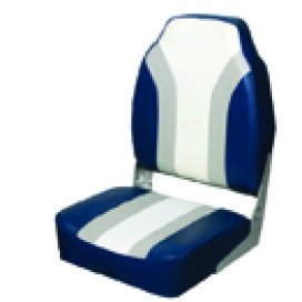 Waveline Highback Folding Seat Grey/Blue/White