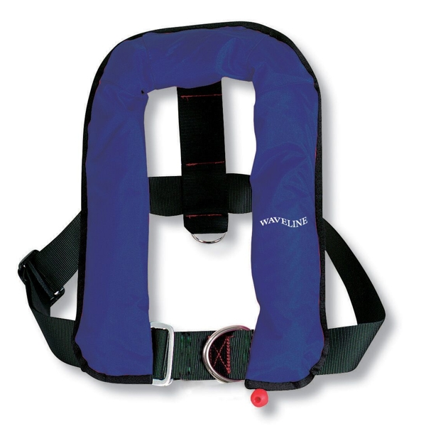 Waveline Automatic Life Jacket Kids with Harness 150N Navy 15-40kg