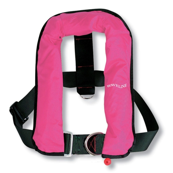 Waveline Automatic Life Jacket Kids with Harness 150N Pink 15-40kg