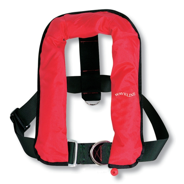 Waveline Automatic Life Jacket Kids with Harness 150N Red 15-40kg