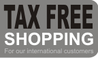 Tax Free Shopping available for our international customers