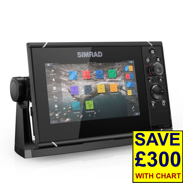 Simrad NSS7 evo3 7 Inch Display With World Basemap