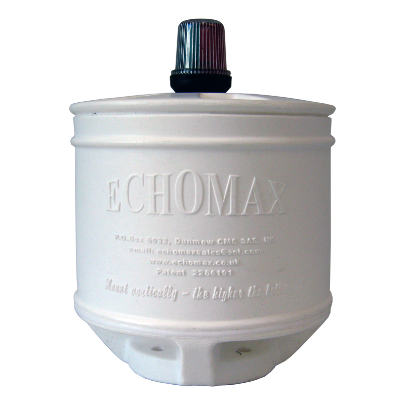 Echomax Em230bmcltl Base Mount - Compact 9 Inch Radar Reflector With Lalizas Tricolour Light