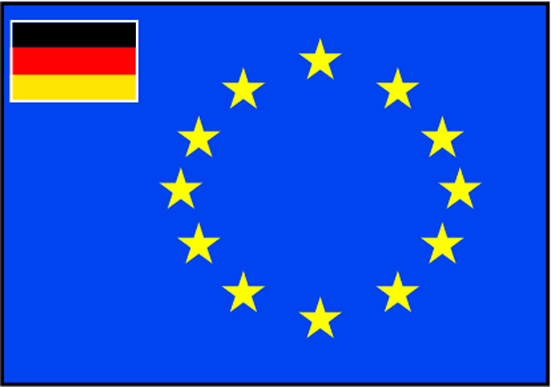 Talamex Europ Flag Germany 60X90