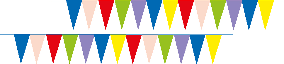 Talamex Decor.Flags 12 Mtr Coloured