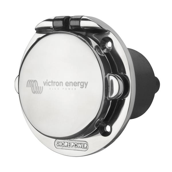 Victron Energy Shore Power Inlet 16A - Stainless Steel c/w cover