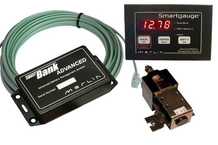 Merlin Smartbank 24V 200A 2 Battery With Gauge