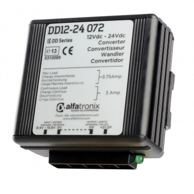 Alfatronix Dd12-24 072 Converter Dc To Dc Multi Selection - 12vdc To 24vdc 3a Continuous 4a Intermittent