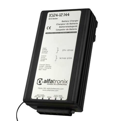 Alfatronix Ici24-12-144 Dc-dc Intelligent Battery Charger - 24vdc To 12vdc - 12a