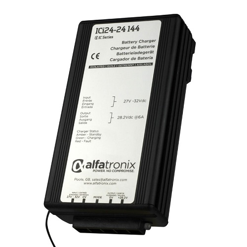 Alfatronix Ici24-24-144 Dc-dc Intelligent Battery Charger - 24vdc To 24vdc - 6a