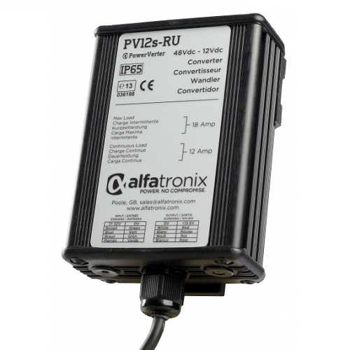Alfatronix Pv12s-ru 24vdc To 12vdc Converter - Non-isolated (common Earth) - 12a Continuous 18a Intermittent