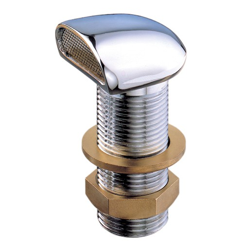 Chrome Vent With Stainless Steel Gauze 1/2 Inch
