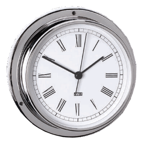 Aqua Marine Clock 95mm Face Chrome Finish