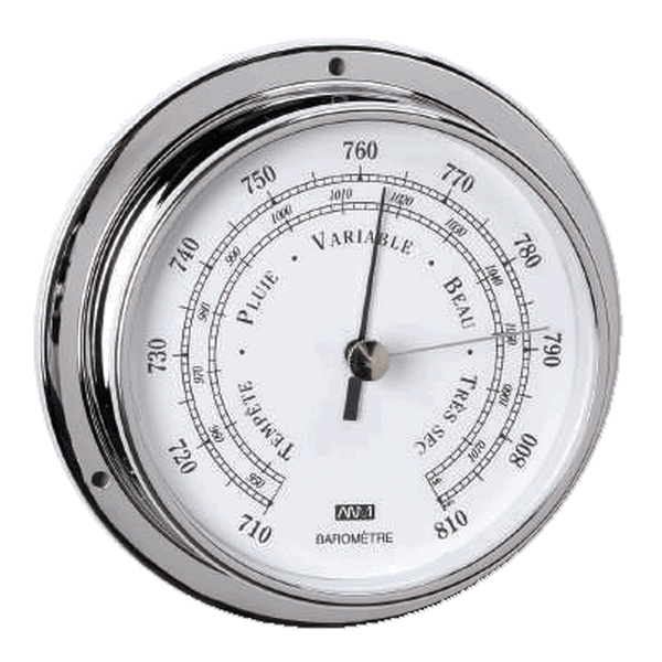 Aqua Marine Barometer 95mm Face Chrome Finish