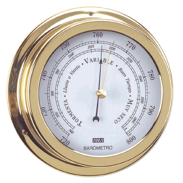 Aqua Marine Barometer 120mm Face Brass Finish