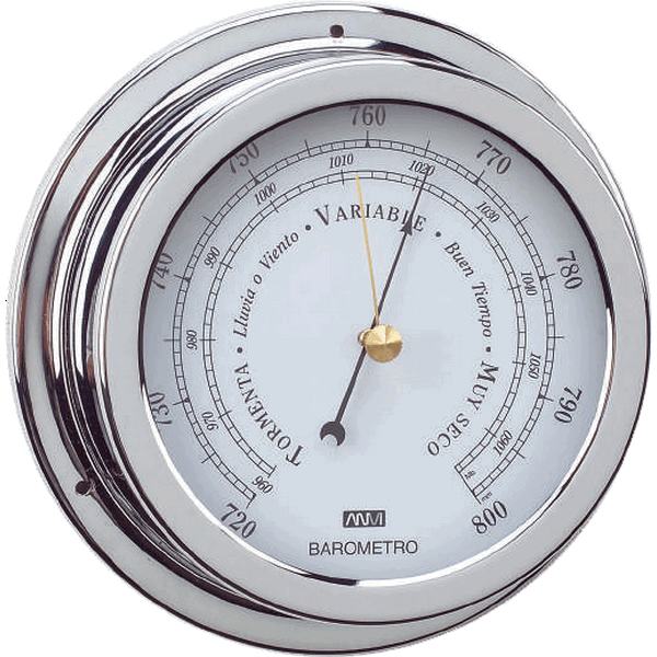 Aqua Marine Barometer 120mm Face Chrome Finish
