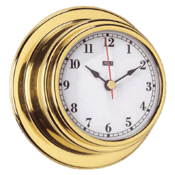 Aqua Marine Clock 70mm Face Brass Finish