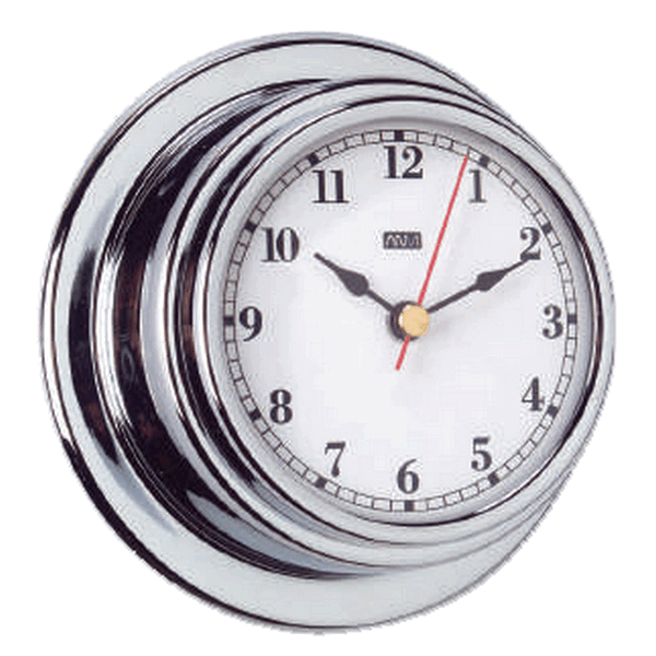 Aqua Marine Clock 70mm Face Chrome Finish